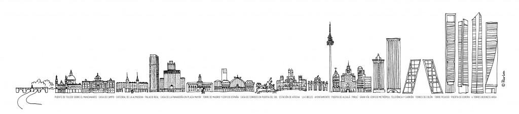 Lámina skyline Madrid